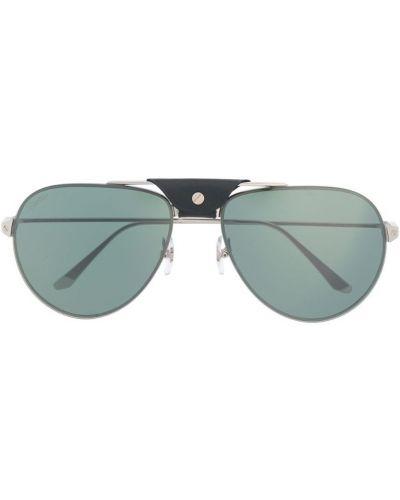 Очки авиаторы солнцезащитные серебряный Cartier