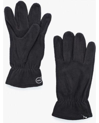 Серые перчатки текстильные Puma