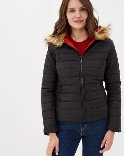 Утепленная куртка демисезонная черная Felix Hardy