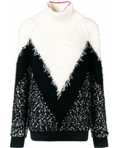 Z rękawami wełniany czarny długi sweter Givenchy