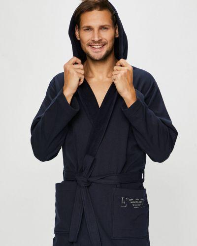 Халат с капюшоном с завязками Emporio Armani