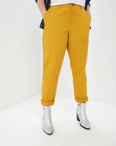 Желтые брюки повседневные Gap