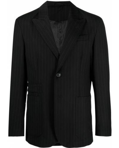 Czarny garnitur z wiskozy z długimi rękawami Trussardi