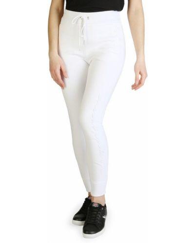 Białe spodnie casual Armani Exchange