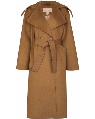 Коричневое пальто двубортное Matériel