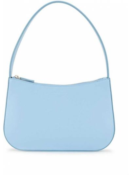 Niebieski skórzany torba na ramię z kieszeniami Kwaidan Editions
