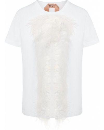 Хлопковая футболка - белая No. 21