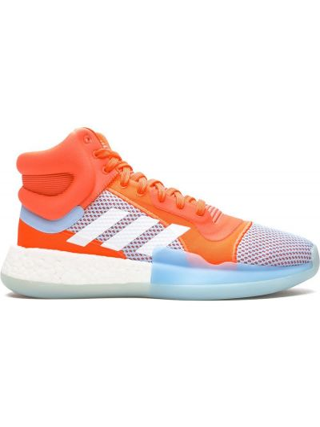 Оранжевый кружевной топ круглый Adidas