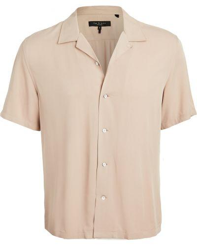 Koszula krótki rękaw z wiskozy Rag & Bone