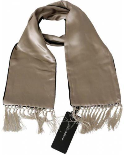 Złoty szalik - beżowy Dolce And Gabbana