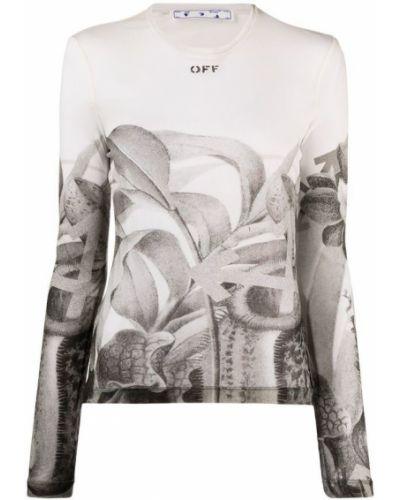 Szara bluza z długimi rękawami bawełniana Off-white