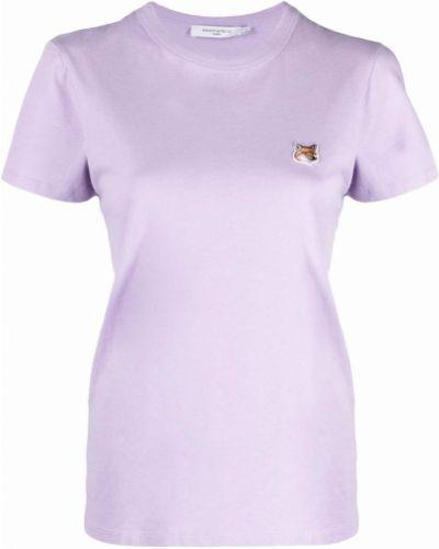 Хлопковая футболка - фиолетовая Maison Kitsuné