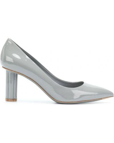 Туфли-лодочки кожаные на каблуке Salvatore Ferragamo