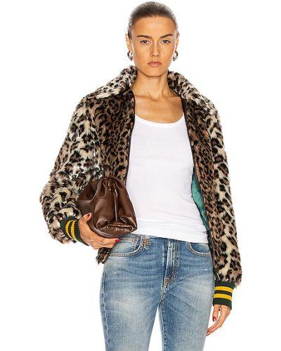 Коричневая джинсовая куртка винтажная с карманами R13