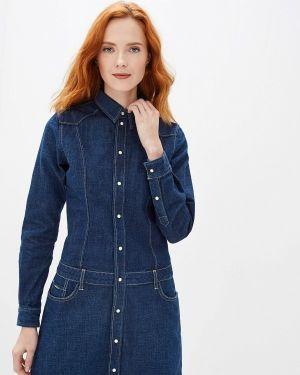 Джинсовое платье осеннее синее Pepe Jeans
