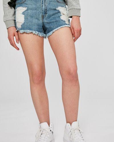 Джинсовые шорты с завышенной талией с карманами Missguided