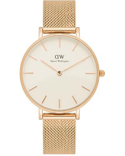 Szary klasyczny złoty wodoodporny zegarek Daniel Wellington