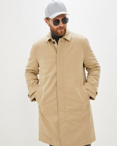 Бежевая утепленная куртка Gap