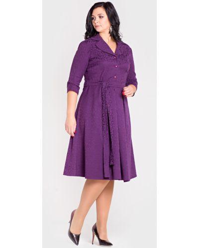 Платье миди деловое на пуговицах Filigrana