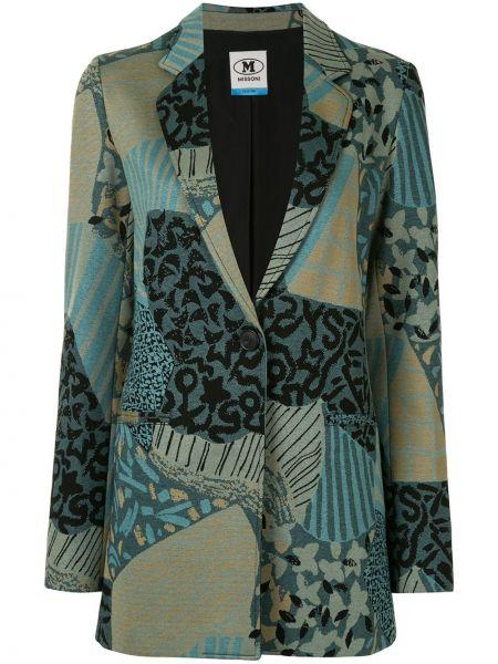 Синий классический пиджак на пуговицах из вискозы M Missoni