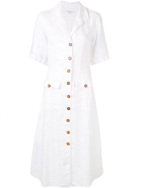 Классическое платье мини на пуговицах с карманами с лацканами Venroy