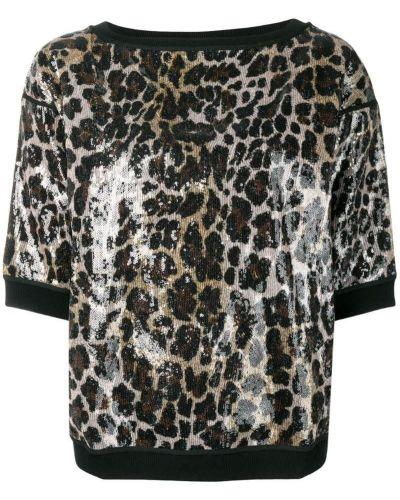 Футболка черная леопардовая Antonio Marras