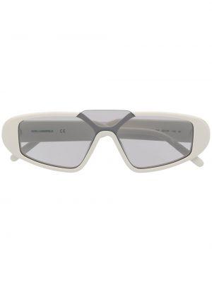 Białe okulary z printem Karl Lagerfeld