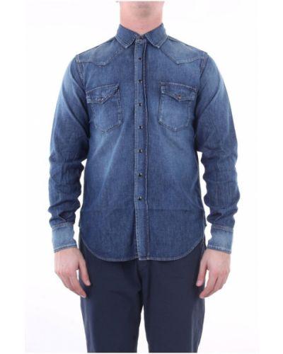 Klasyczna koszula jeansowa z długimi rękawami zapinane na guziki Saint Laurent