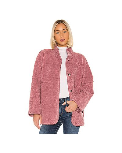 Кожаная куртка бархатная розовая Velvet By Graham & Spencer