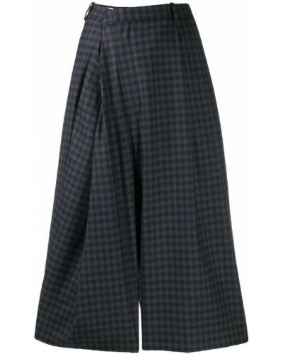 Укороченные брюки с завышенной талией с запахом Maison Margiela