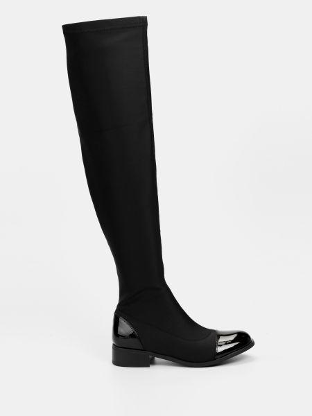 Кожаные сапоги - черные Braska