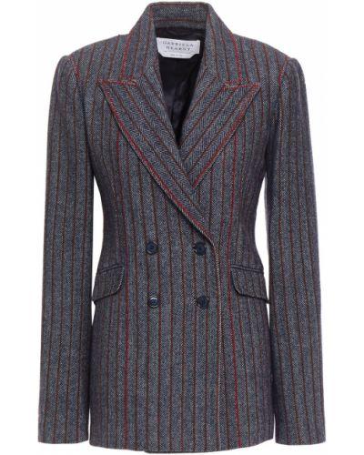 Серый пиджак двубортный с карманами Gabriela Hearst