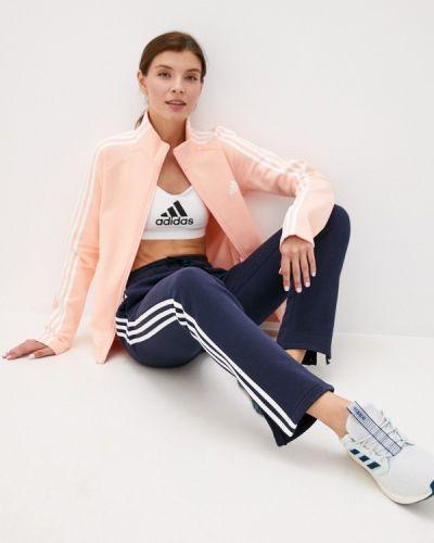 Костюмный розовый спортивный костюм Adidas