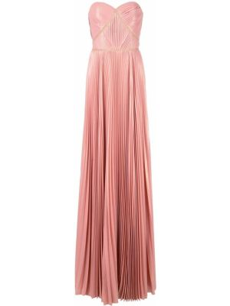 Платье розовое плиссированное Marchesa Notte