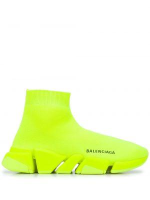 Żółty sport sport skarpety rozciągać okrągły nos Balenciaga