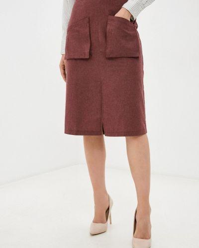 Красная прямая юбка карандаш Trendyol