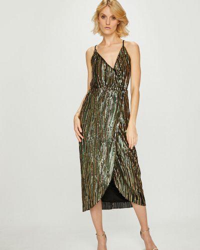 Платье миди с запахом с пайетками Trendyol