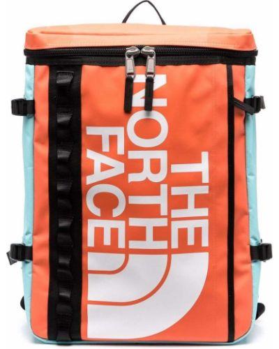 Plecak z printem - pomarańczowy The North Face
