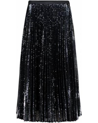 Плиссированная черная юбка миди на торжество Joseph