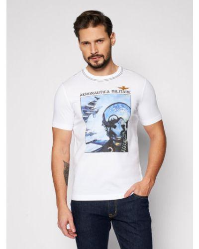 Biała t-shirt Aeronautica Militare
