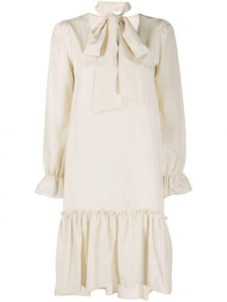 Платье макси с длинными рукавами - бежевое Ballantyne