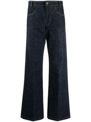 Синие широкие джинсы с высокой посадкой с карманами Rejina Pyo