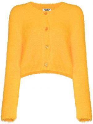 Желтый вязаный кардиган с длинными рукавами Frankie's Bikinis