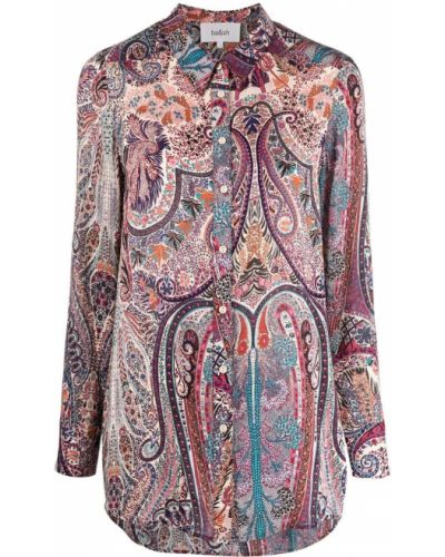Fioletowa klasyczna koszula Ba&sh