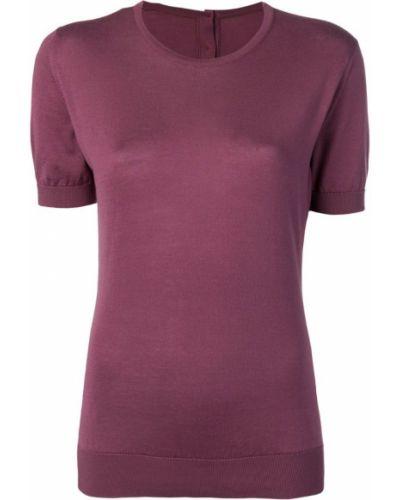 Фиолетовая футбольная футболка в рубчик John Smedley