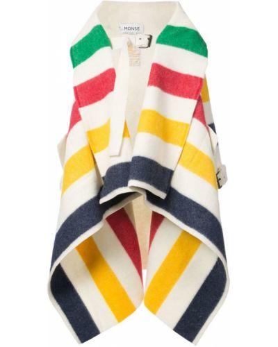Коралловое шерстяное длинное пальто с капюшоном Monse