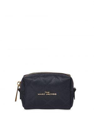 Золотистая черная косметичка на молнии Marc Jacobs