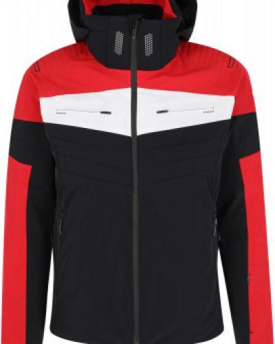 Черная утепленная куртка горнолыжная для полных Descente