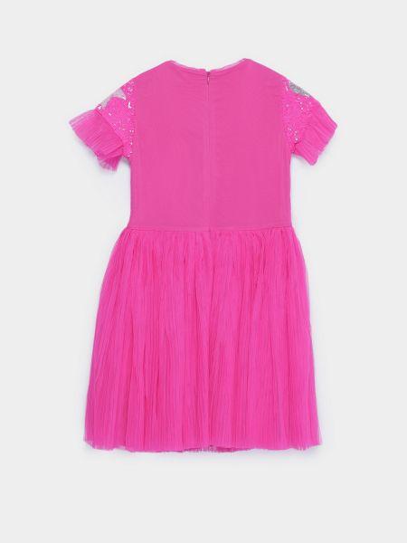 Платье мини короткое - розовое Billieblush