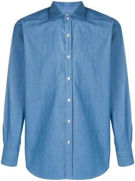 Koszula z długim rękawem dżinsowa długa Canali